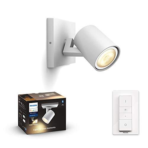 Philips Hue White Amb. LED 1-er Spotleuchte Runner inkl. Dimmschalter, weiß, dimmbar, alle Weißschattierungen, steuerbar via App, kompatibel mit Amazon Alexa (Echo, Echo Dot)