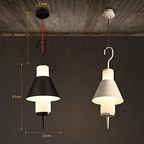 Luces pendientes, Loft nórdicos Lámparas, restaurante la lámpara de cristal del viento Industrial Cafe paraguas de la lámpara Lámparas Crocs (Color : White)