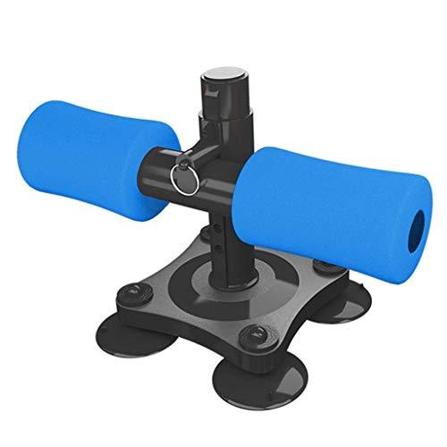 Nobranded Barra de Abdominales Portátil con 4 Ventosas, Ejercitador Ajustable para Abdominales - Azul