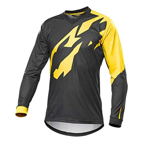 Bwchuxin Camisetas De Ciclismo MTB para Hombres, Maillot De Ciclismo De Manga Larga, De Secado Rápido, De Ciclismo De Montaña, Maillot De Ciclismo,1,XXL