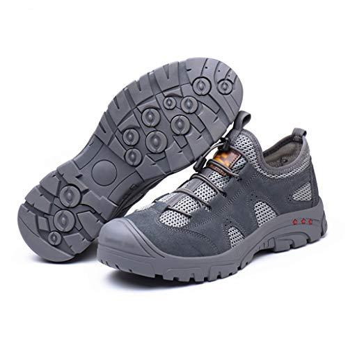Calzado de protección Zapatos de seguridad resistentes al desgaste, zapatos de trabajo anti-aplastamiento y anti-piercing, zapatos de seguridad para hombres mujeres industriales antideslizantes zapato