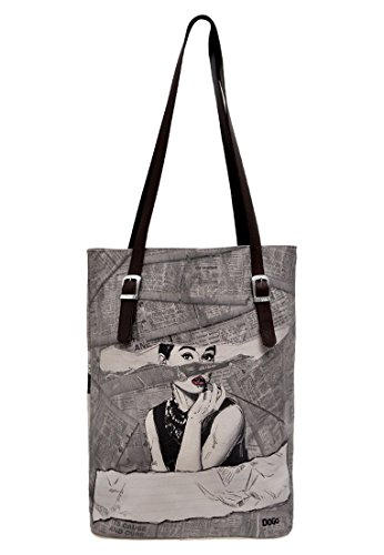 DOGO Damen Handtasche - Shopper - Schultertasche - vegan - Tall Bag - Go Back to Being Yourself