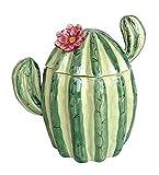 Blue Sky Ceramic Cactus Sugar Bowl, Multicolor, 4.5X 3.5X 4.75, Multi