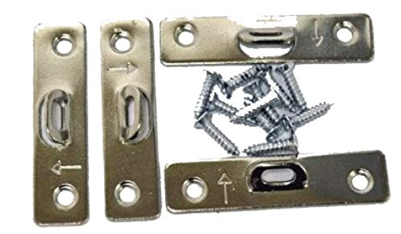 Extra Heavy Duty Small 2 Hole Super Steel Picture Hanger (20 Pack) With Screws