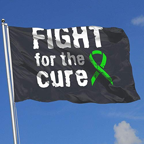 Xhayo Flaggen Fight for The Cure - Lime Green Ribbon Lyme Disease Banner Flag Family Flag Outdoor Garden Flag 3'X5' House Banner