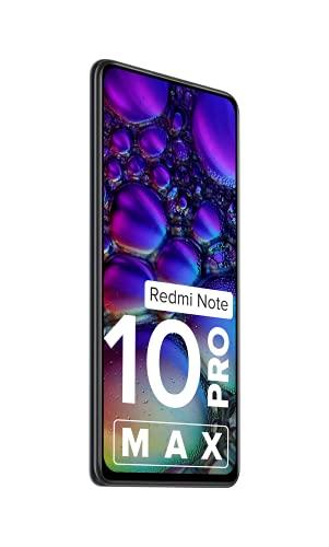 Redmi Note 10 Pro Max (Dark Night, 6GB RAM, 128GB Storage) -108MP Quad Camera|120Hz Super Amoled Display |ICICI Cashback 1500 Off
