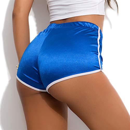 Fliegend Femme Legging Court Short de Sport Fitness Yoga Élastique Collants Jogging Running Leggins Sports Shorts Hot Pants pour Discothèque Fête S