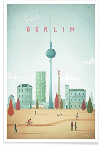 "JUNIQE® Berlin Poster 20x30cm - Design ""Berlin"" entworfen von Henry Rivers"