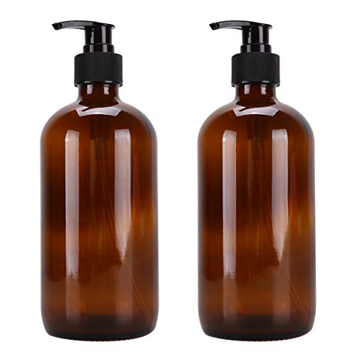 Cabilock 3 unidades de dispensador de jabón de cristal, dispensador de loción, vacío, para baño o cocina, 250 ml, color marrón, marrón (Marrón) - I342RLE7L130DR52GUQU91SQX