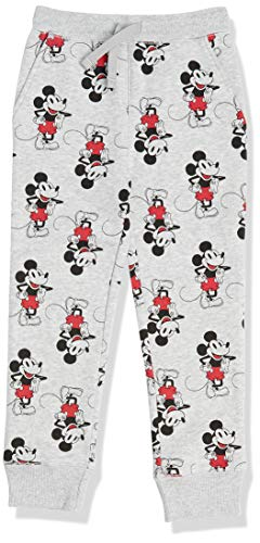 Amazon Essentials Disney Fleece Jogger Sweatpants Pants, Heather Grey Mickey, 2 Jahre