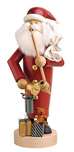 KWO German Incense Smoker Santa Claus - 25 cm / 10 inch - Authentic German Erzgebirge Smokers