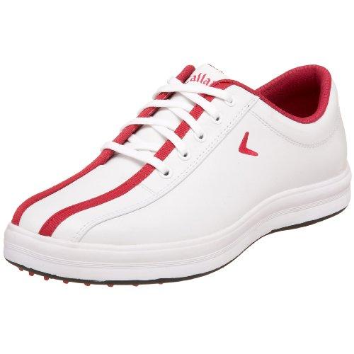 Callaway Women's Turf Cruiser Golf Shoe,White/Red,9 M US