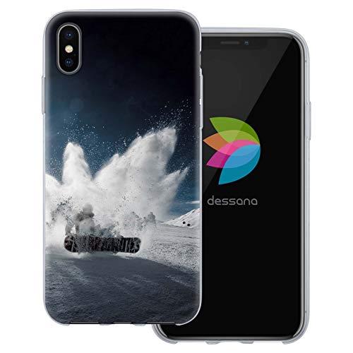 dessana Winter Sport transparente Schutzhülle Handy Case Cover Tasche für Apple iPhone XS Max Snowboard Kunststück