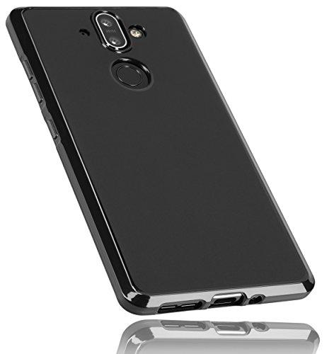mumbi Hülle kompatibel mit Nokia 8 Sirocco Handy Hülle Handyhülle, schwarz