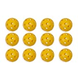 Champion Sports Plastic Baseball, Yellow - One Dozen (12)