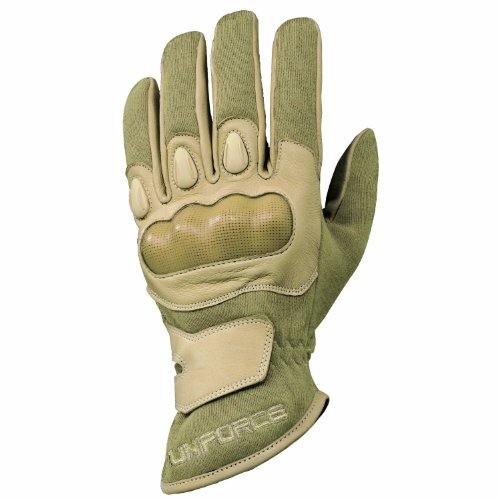 Franklin Sports Tactical Gloves - Uniforce - Hard Knuckle Work Gloves Great for Police, Military, Motorcycle - Cut and Flame Resistant Gloves - XL