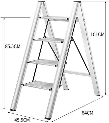 ZfgG Escalera plegable de aluminio escalera, taburete multifunción, multiuso, andamio, escalera, escalera, escalera, resistente, multiusos, escalera, escalera, multiusos, andamio, plateado: Amazon.es: Bricolaje y herramientas