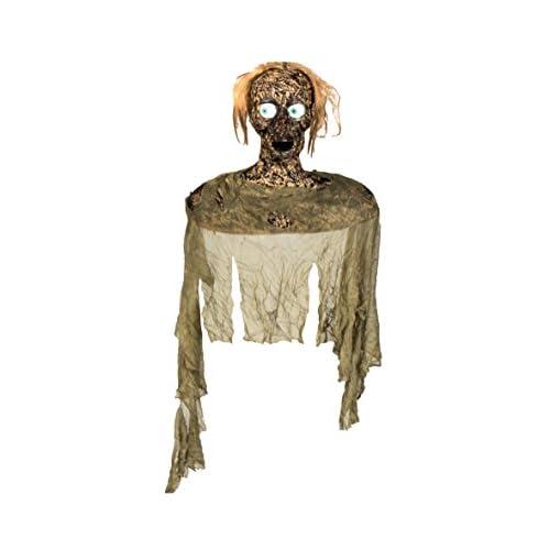 Boland- Decorazione Zombie Spy con Luci Suono e Movimento, Marrone, 110x42 cm, 73001