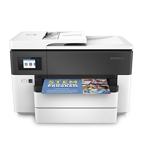 HP OfficeJet Pro 7730 All-in-One Printer, black, white