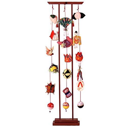 Mille Ti Rana つるし雛 雛人形 ひな人形 つるし飾り 初節句 桃の節句 ひなまつり 雛飾り スタンド付 (95cm)