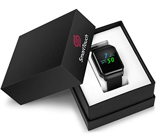 Smart Touch KW06 Smart Watch w/Built-in Camera (Android 5.1) Bluetooth Fitness Tracker, Heart Rate & Sleep Monitor, Pedometer | IP68 Waterproof, LCD Touchscreen | Men, Women