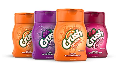 Crush, Variety Pack, Liquid Water Enhancer – New, Better Taste! (4 Bottles, Makes 96 Flavored Water Drinks) – Sugar Free, Zero Calorie