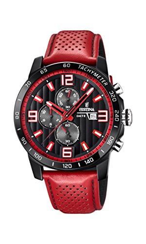Festina Unisex Erwachsene Chronograph Quarz Uhr mit Leder Armband F20339/5