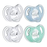 Tommee Tippee Ultra-Light Silicone Baby Pacifier, Boy - 0-6m, 4pk, Blue