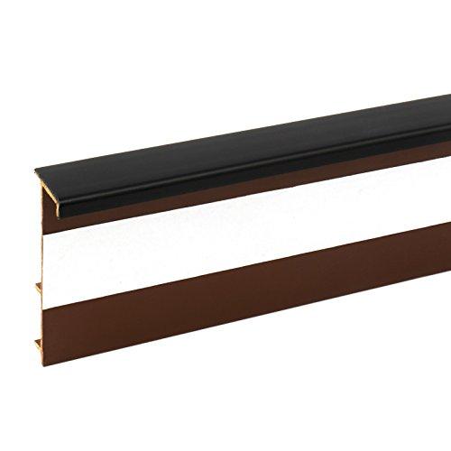 2,5m TEPPICHLEISTEN 50mm SCHWARZ Kettelleisten aus Kunststoff Fussbodenleiste Laminat Dekore Parkett Scheuerleiste