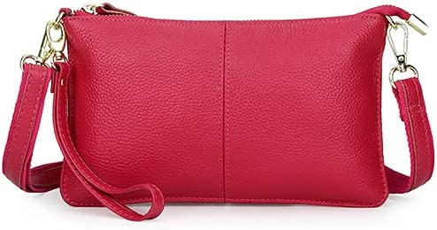 Genuine Leather Cross-body Shoulder Bag Clutch Bags Casual Purse Phone Bags for Women