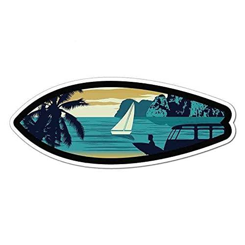 ZCZWQ 13 cm x 13 cm per Ocean Sport Beach Surf Tramonto Creativo Vinyl Adesivi per auto in vinile Stampa personalizzata Accessori per auto moda (Color Name : Style A, Size : 25cm)