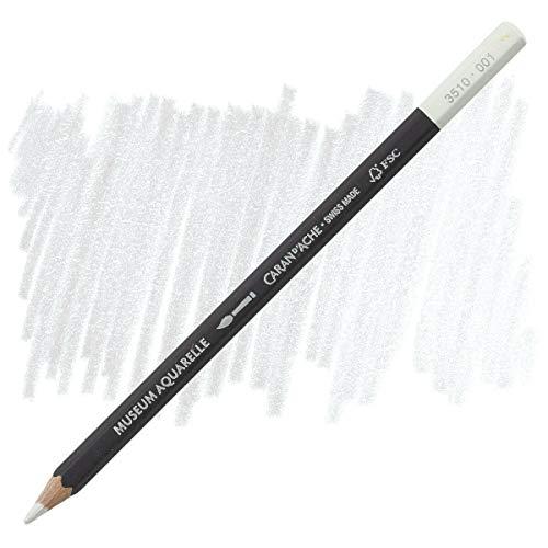 Caran D'ache Museum Aquarelle Watercolour Pencils - White (3510.001)