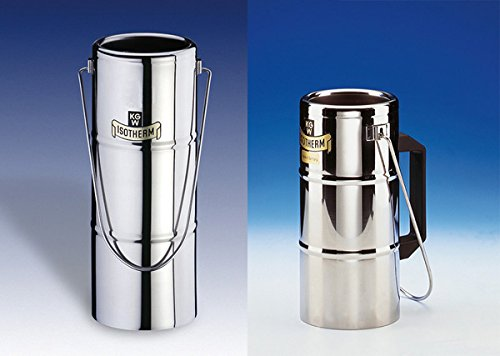 KGW termo 091726Dewar frascos de acero inoxidable con gran apertura con bucle Sólo Capacidad 0,5litro