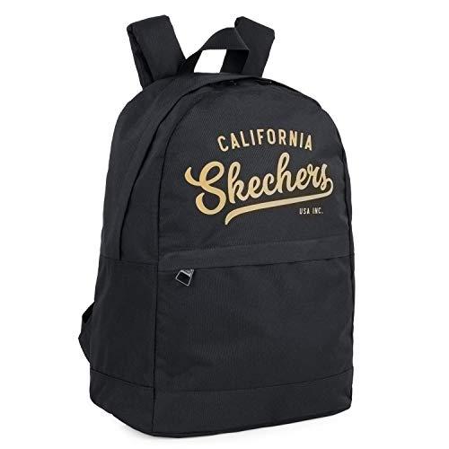 Skechers Rucksack, lässig, Unisex, für Erwachsene, mit Innentasche, iPad, Tablet, für den täglichen Gebrauch, bequem, vielseitig und leicht, Schwarz, Einheitsgröße