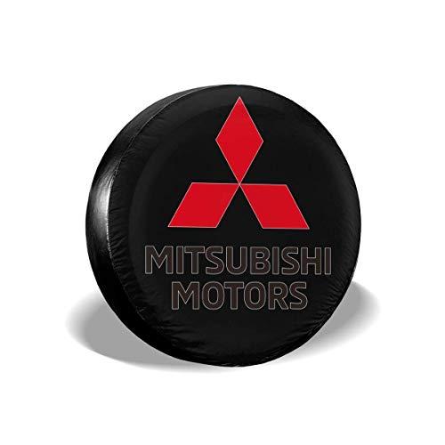 NAnihidf Copertura per Pneumatici di Ricambio HJKAA Copriruota con Logo Mitsubishi-Motors Protezioni per Pneumatici universali