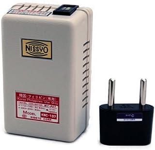 日章工業 変圧器 海外 旅行用 熱器具用 AC110V~130V(50/60Hz) AC220V~240V(60Hz)→AC100V 1000W マイペットシリーズ KNC-107