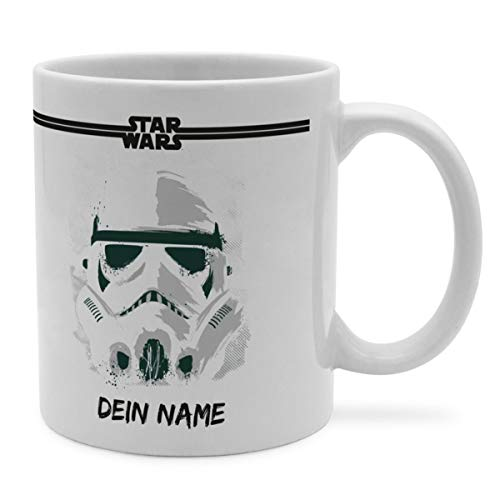 PhotoFancy Tasse Star Wars mit Namen personalisiert (Storm Trooper Paint)