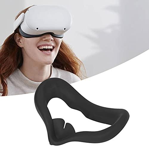 Cubierta de silicona VR VR Face Pad Eye Cover Accesorios VR para Oculus Quest2 Cómodo para tocar el hogar(black)