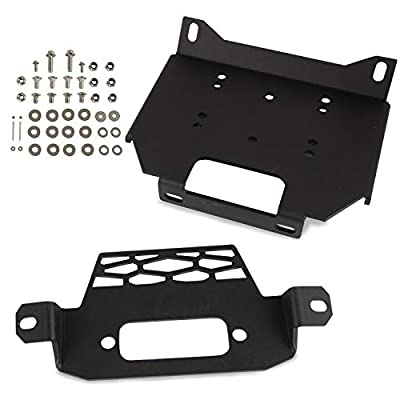 Winch Mount Plate Bracket Kit Compatible with Polaris RZR XP 1000 RZR900 2014-2018 General 1000 2016-2018 Replace Part Number 101220 (Model A)