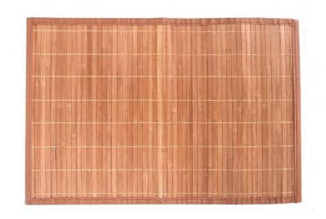 LEYENDAS Alfombra Antideslizante de Bambu,Alfombrilla de baño,Pasillo o Salon Repelente al Agua para la Ducha, marrón Claro (60_x_90_cm)