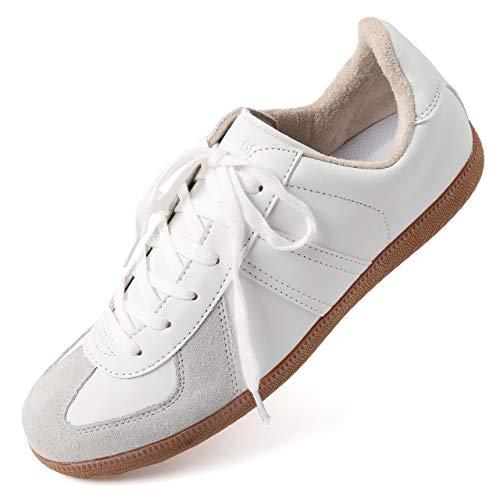 [エムエイチエー] M.H.A.style ジャーマントレーナー ホワイト ドイツ軍レプリカ 白 靴 スニーカー 10039 ...
