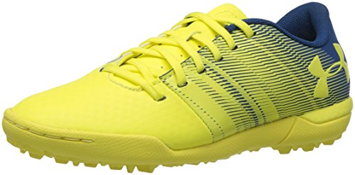 Under Armour UA Spotlight TF Jr, Zapatillas de Fútbol Unisex Niños, Amarillo (Tokyo Lemon), 38.5 EU