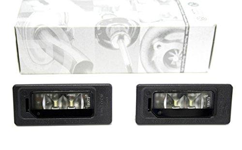 Original VW LED Kennzeichen Leuchten Golf 6 + Plus Passat Touareg Sharan Tiguan Kennzeichenbeleuchtung