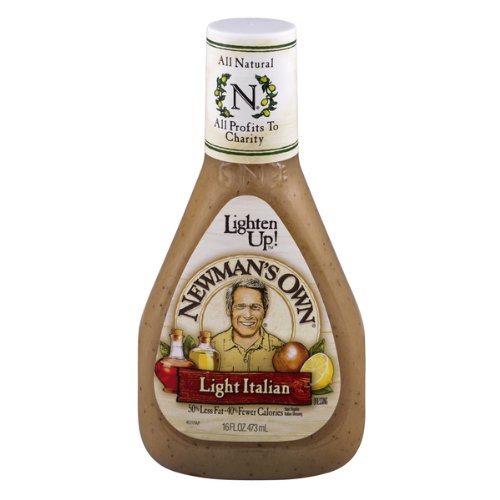 Newman's Own Salad Dressing Light Italy, 16-Ounce (Pack of 3)