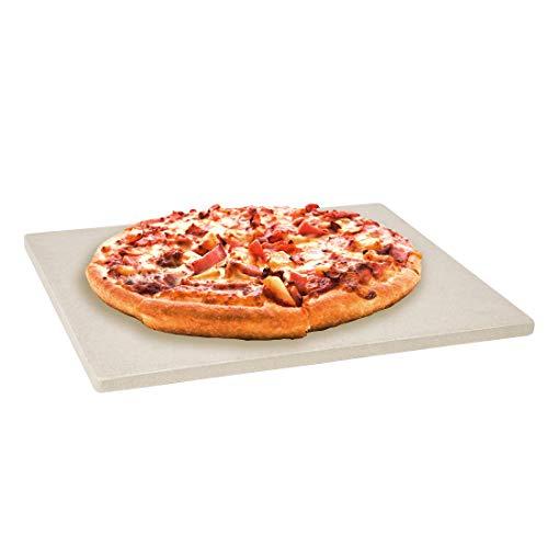 Levivo Pizzastein/Brotbackstein aus hitzebeständigem Cordierit, für den Backofen oder den Grill, zum Backen von Pizza, Flammkuchen, Brot und mehr, 30 x 38 x 1,5 cm