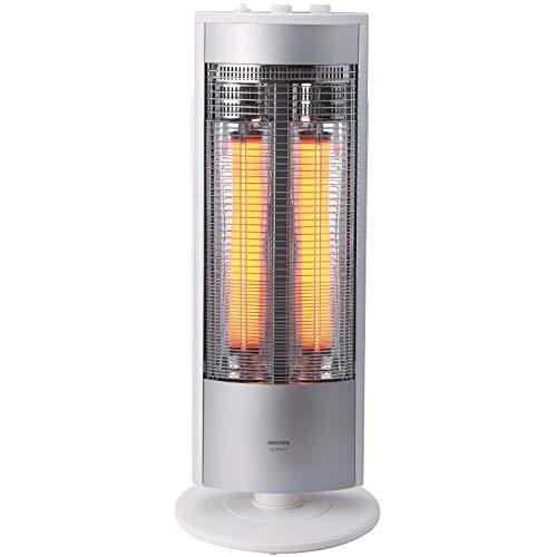 [山善]遠赤外線グラファイトヒーター(超速暖グラファイトヒーター管仕様)(ヒーター管日本製)(300/600/1200W出力3段階切替)(左右自動首振り)(切タイマー最大6時間)ホワイト×シルバーDCTS-B12(WS)[メーカー保証1年]