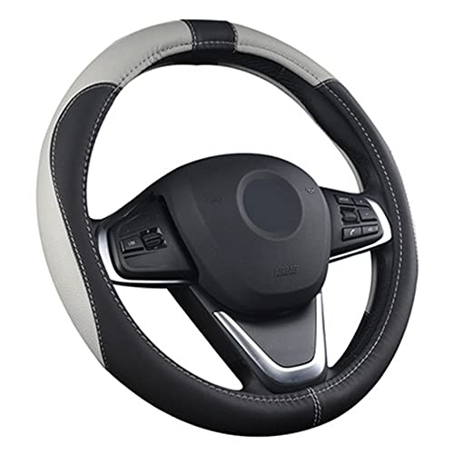 Funda de Cuero para Volante de Coche, Protector Antideslizante Transpirable Universal de 36 cm-42 cm para automóvil/camión/SUV/Furgoneta, Accesorios para Coche