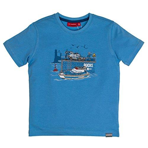 SALT AND PEPPER Jungen Police Uni Stick T-Shirt, Blau (Ocean Blue 429), 128 (Herstellergröße: 128/134)