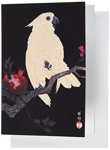 Nouvelles Images Holiday Boxed Note Card Set, Cockatoo On Pomegranate Branch, 1927 (XDB 436)