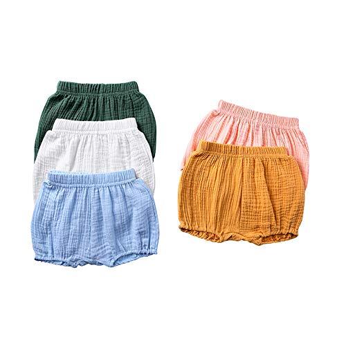 Bebé Pantalones Cortos Niñas Niños Bombacho Estampado Braguitas Pañal Cubierta Verano Cintura Elástica Pull-on Bloomer Shorts Loose Harem Shorts Pantalones De Playa